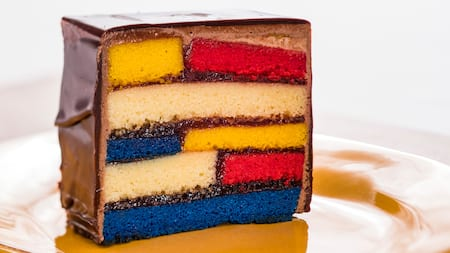 A slice of layer cake