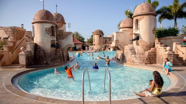 Pools At Disney S Caribbean Beach Resort