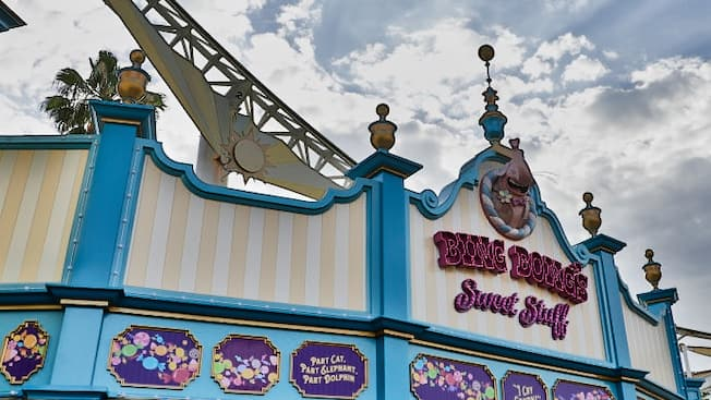 The carnival like exterior of Bing Bongs Sweet Stuff