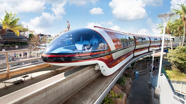 Ride the Disneyland Monorail transportation system around the Disneyland Resort