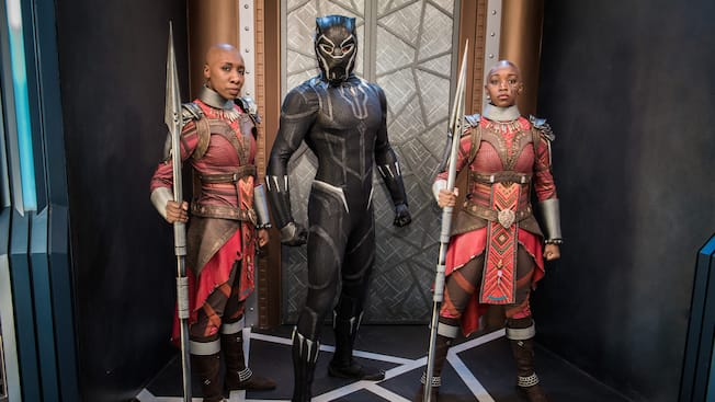 Heroic encounter black panther disneyland resort black panther and the dora milaje m4hsunfo