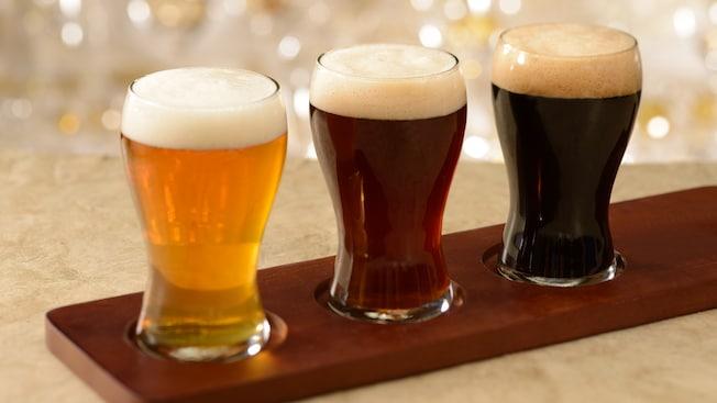 Muestra para degustación con 3 cervezas