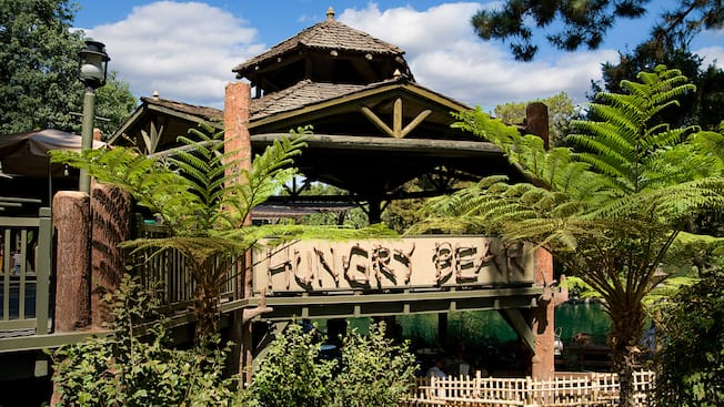 Sign at entrance to Hungry Bear restaurant in Disneyland Park