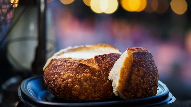 Bread bowls at Royal Street Veranda
