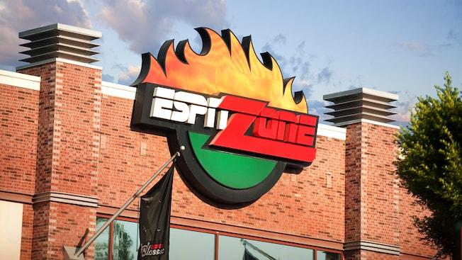 ESPN Zone sign at Downtown Disney District, Anaheim, CA