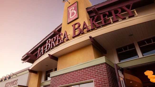 Entrance sign for La Brea Bakery in Downtown Disney District