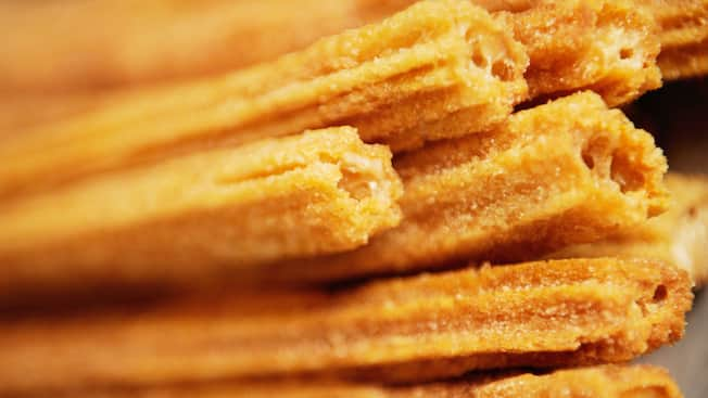 A stack of churros