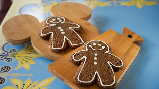 Gingerbread men shortbread cookies featured during the Holidays at the Disneyland Resort