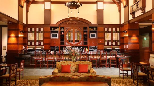 Hearthstone Lounge Hotel Dining Disneyland Resort