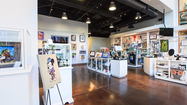 Disney art, Vinylmation figures and merchandise inside WonderGround Gallery