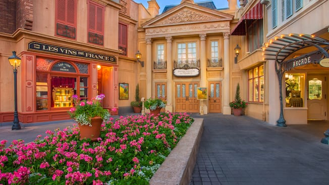 Courtyard outside a French colonial building, home to 'Impressions de France' at Epcot
