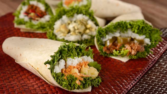 Assorted temaki wraps