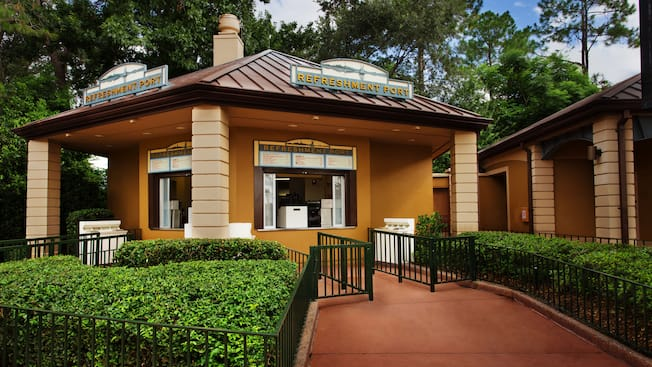 Exterior of Refreshment Port kiosk at World Showcase at Epcot