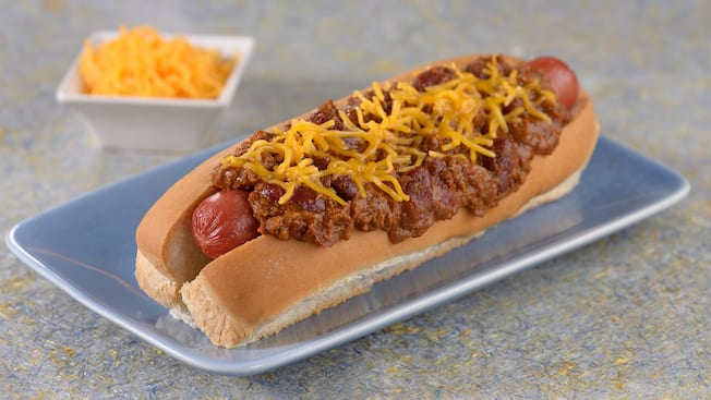 The Chili Cheese Foot Long Hot Dog
