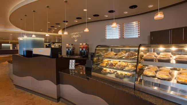 Service counter and pastry windows at Contemporary Grounds at Disney's Contemporary Resort