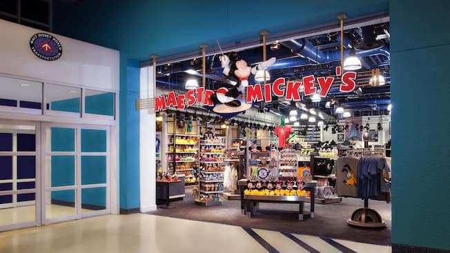 Entrada de la tienda Maestro Mickey's en Disney's All-Star Music Resort