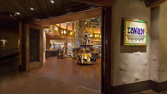 Entrada al Zawadi Marketplace en Disney's Animal Kingdom Lodge