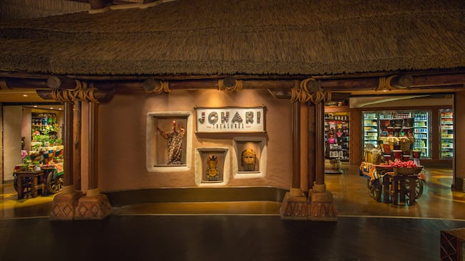 Ambas as entradas do Johari Treasures no Disney's Animal Kingdom Villas – Kidani Village