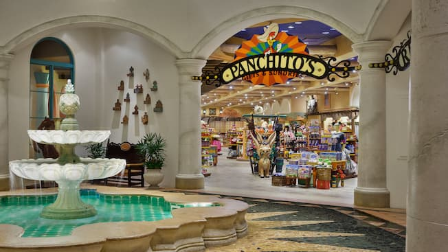 Fountain next to Panchito's Gifts & Sundries at Disney's Coronado Springs Resort