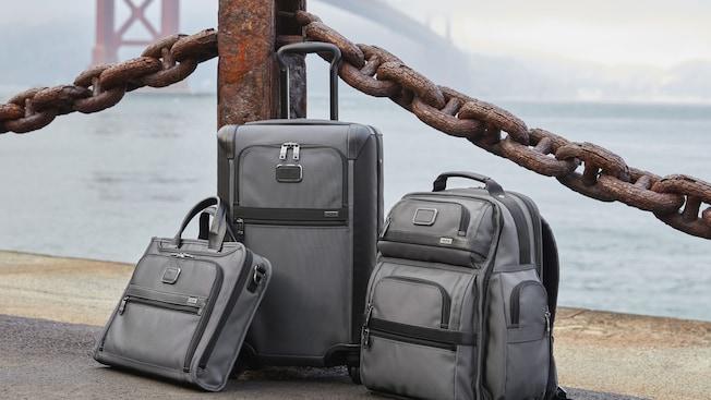 ensemble de trois valises Tumi