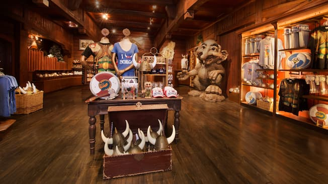 Norwegian-themed wares at The Puffin's Roost Curios & Collectibles at Epcot