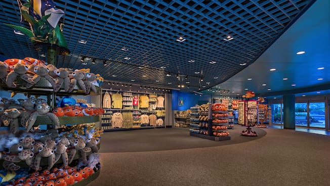 Inside the Sea Base Alpha Gift Shop in The Seas with Nemo & Friends Pavilion at Epcot