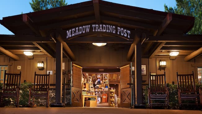 Parte externa do Meadow Trading Post no Disney's Fort Wilderness Resort & Campground