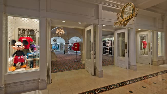 Entrance of the M. Mouse Mercantile shop at Disney's Grand Floridian Resort & Spa
