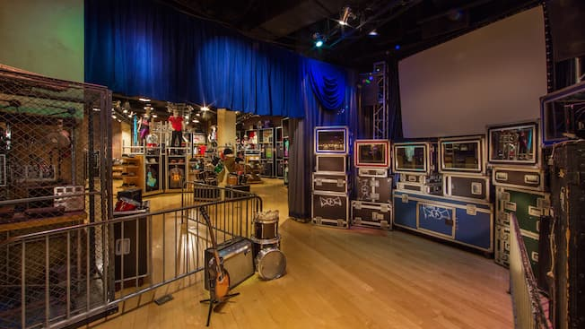 Interior de Rock Around the Shop en Sunset Boulevard en Disney's Hollywood Studios