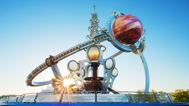 The futuristic Astro Orbiter attraction