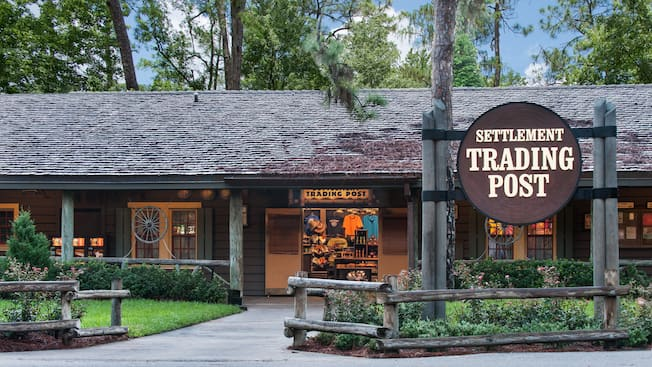 Exterior of the Settlement Trading Post at Disney's Fort Wilderness Resort & Campground