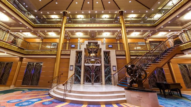 Let the ship's onboard Art Deco stylings take you back to the Golden Age of Ocean Liners.