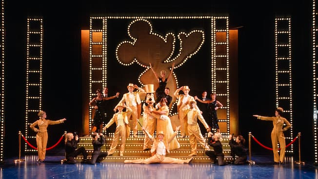 Thrill to the dance and music of The Golden Mickeys, as well as other Broadway-caliber live shows!