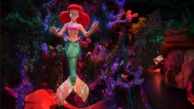 The Little Mermaid Ariels Undersea Adventure California - The 12 best disneyland attractions for your little princess