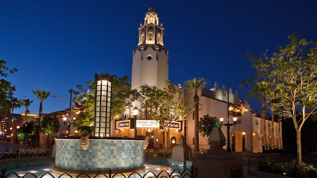 The Carthay Circle Fountain outside the Carthay Circle Theatre