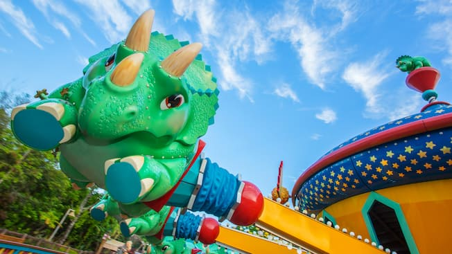 Animal Kingdom Florida Map.Triceratop Spin Animal Kingdom Attractions Walt Disney World Resort