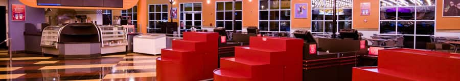 Área de comidas de la feria de comida Intermission