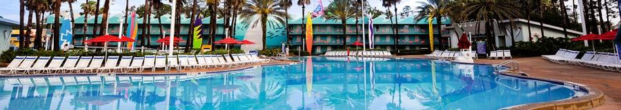 Beach-themed Surfboard Bay pool