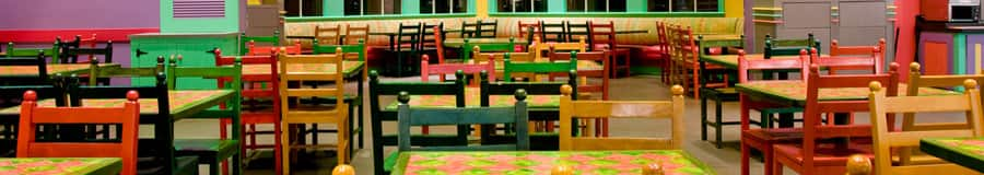 Dining area of Old Port Royale Food Court