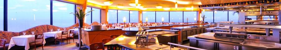 Le restaurant CaliforniaGrill avec une vue panoramique