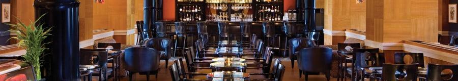 The dining area at Kimonos, a signature restaurant at Walt Disney World Dolphin Hotel