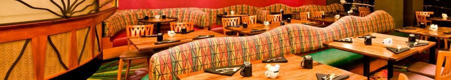 Área de refeições do The Kona Café