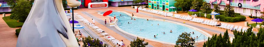 Bowling pin-shaped Bowling Pool in the '50s section