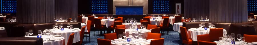 The dining area at Todd English's bluezoo, a signature restaurant at Walt Disney World Swan Hotel