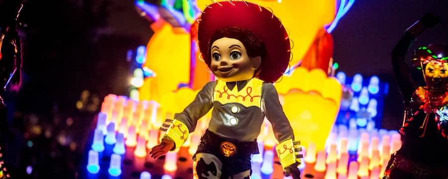 Jesse, featured in Paint the Night Parade at Disney California Adventure Park