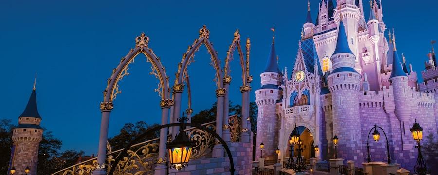 Cinderella Castle at dusk