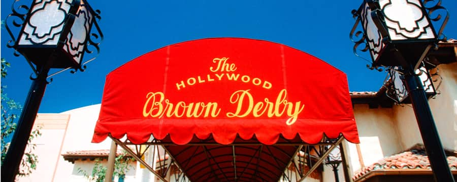 The entryway awning to The Hollywood Brown Derby
