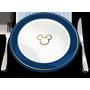 Un icono de un plato con un símbolo de Mickey y un tenedor y un cuchillo