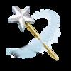 Un ícono de una varita mágica con una estrella en la punta